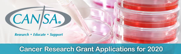 CANSA - Cancer Research Grant Applications for 2018